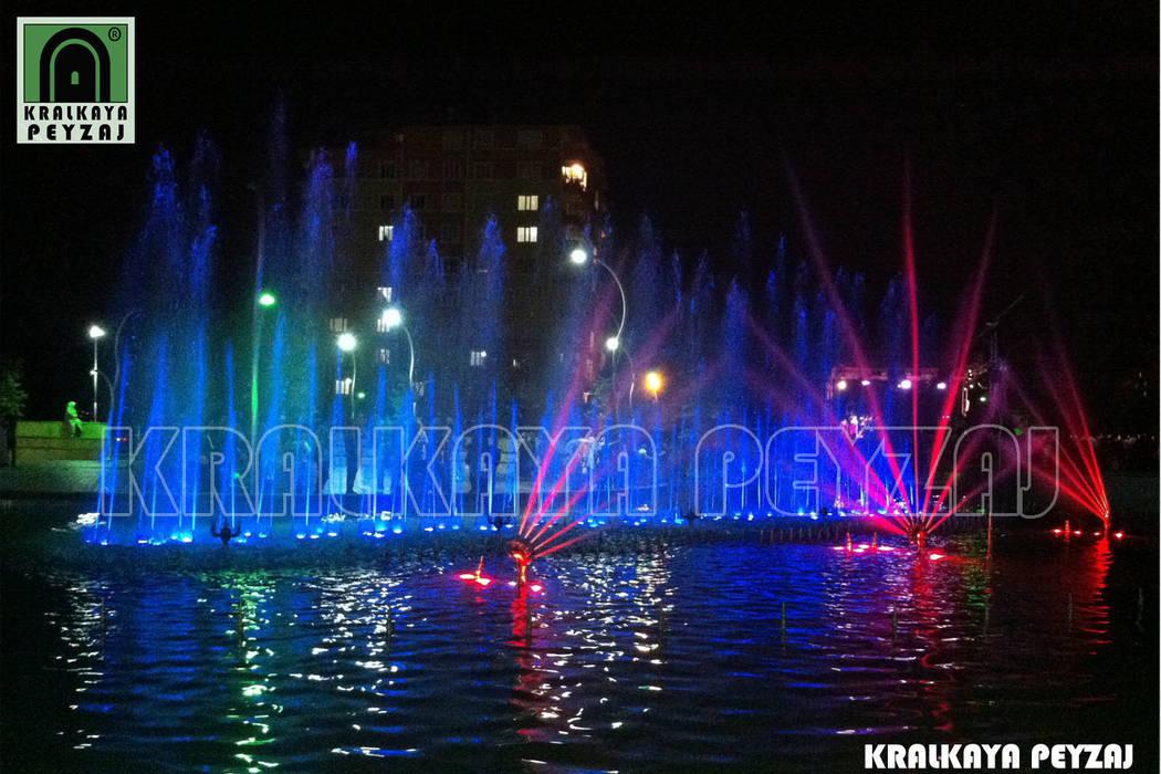 Kralkaya Peyzaj Havuz Fıskiye Sist. ve Pompa Mim. Müh. İnş. Ltd. Şti  – Bağlar Belediyesi / Diyarbakır - Göletli Park:  tarz Havuz, Modern