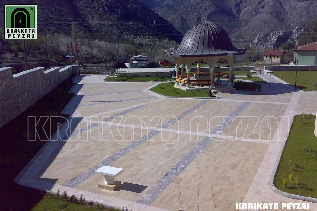 Kralkaya Peyzaj Havuz Fıskiye Sist. ve Pompa Mim. Müh. İnş. Ltd. Şti  – Filingirler Mevkii / Amasya - Bulut Camii Bahçesi:  tarz Bahçe, Akdeniz