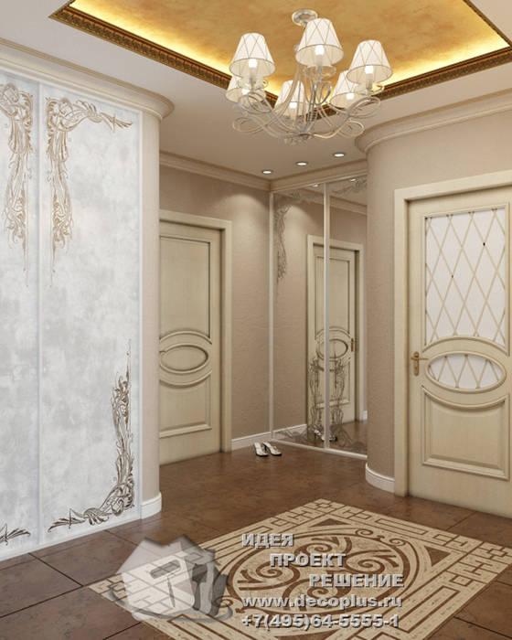 Дизайн бежево-коричневой прихожей: Коридор и прихожая в . Автор – Бюро домашних интерьеров