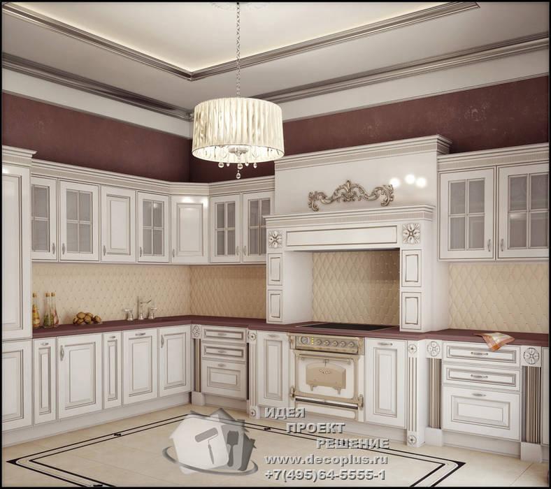 Бежево-коричневая кухня в стиле арт-деко Кухни в эклектичном стиле от Бюро домашних интерьеров Эклектичный