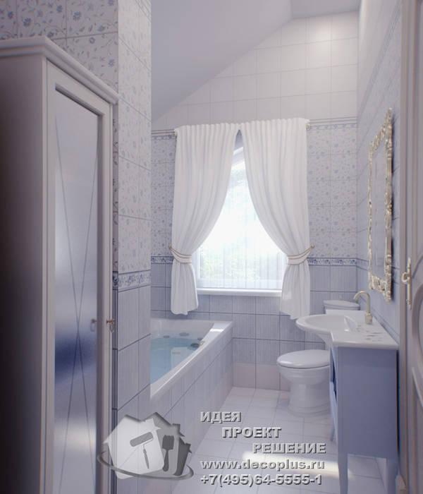Прохладные оттенки в интерьере ванной: Ванные комнаты в . Автор – Бюро домашних интерьеров