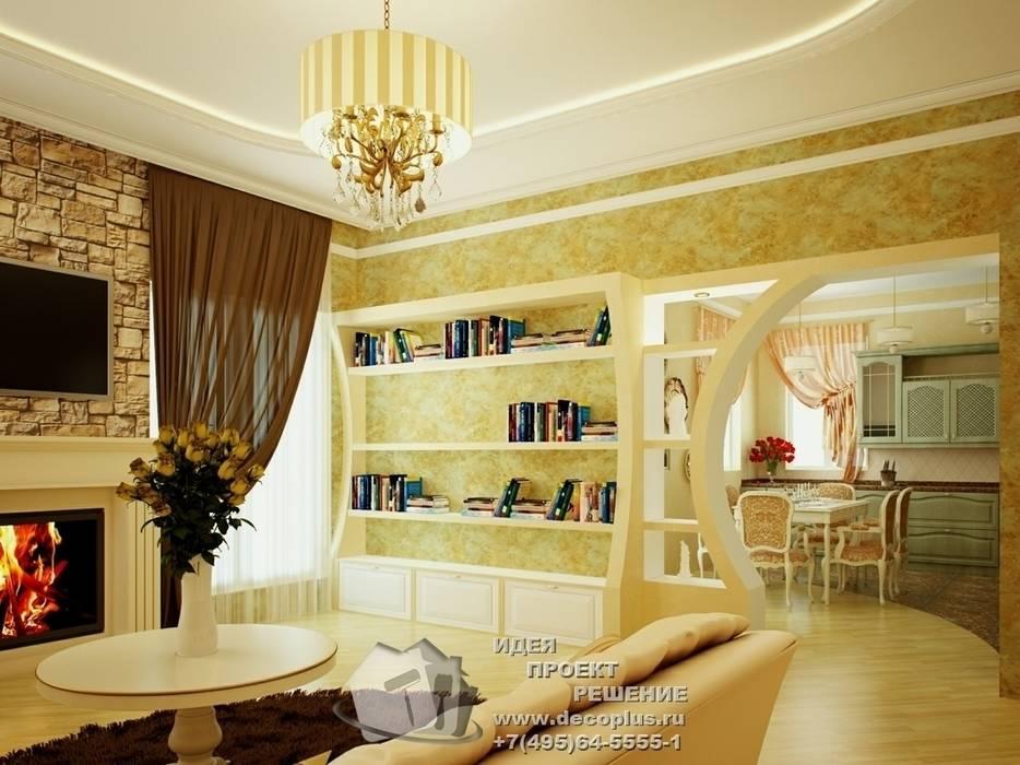 Фото интерьера гостиной в стиле прованс: Гостиная в . Автор – Бюро домашних интерьеров,