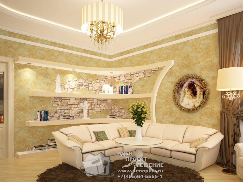 Фото диванной зоны гостиной в стиле прованс: Гостиная в . Автор – Бюро домашних интерьеров,