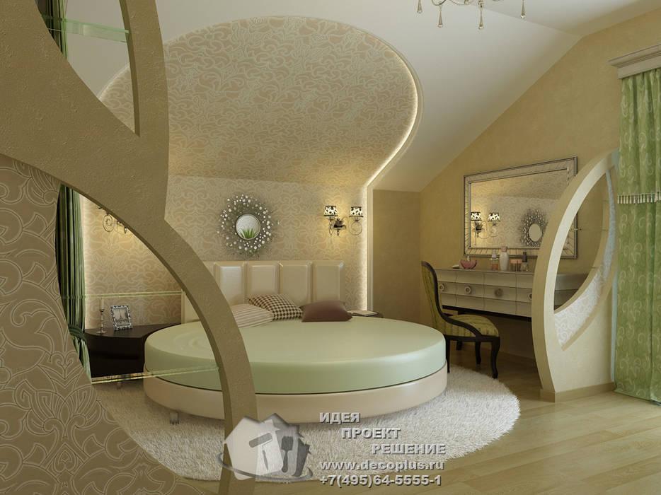 Фото интерьера спальни с круглой кроватью: Спальни в . Автор – Бюро домашних интерьеров, Кантри