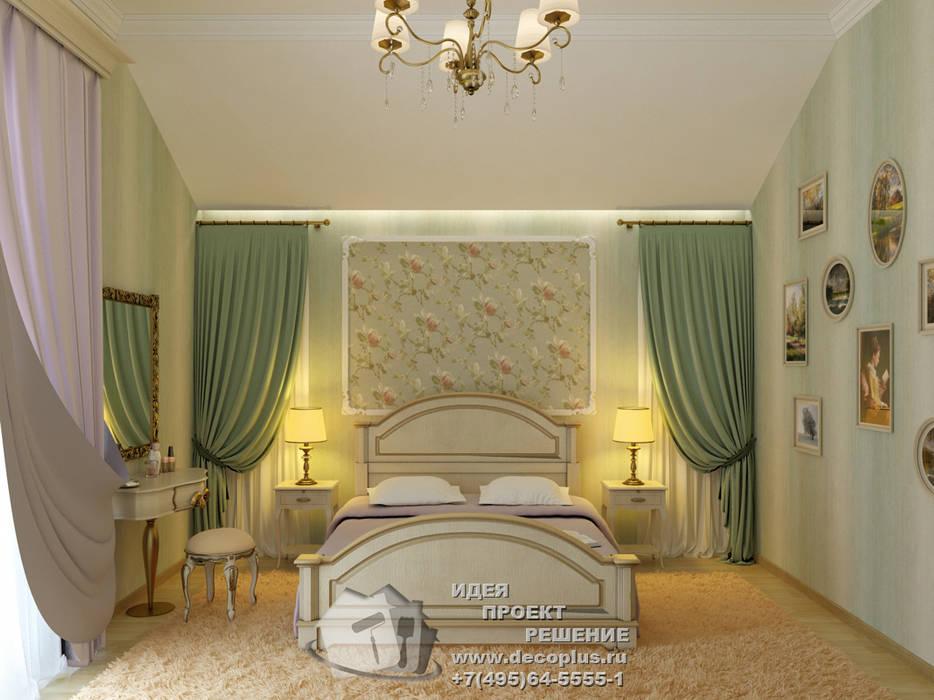 Зеленая спальня в провансальском духе: Спальни в . Автор – Бюро домашних интерьеров, Кантри