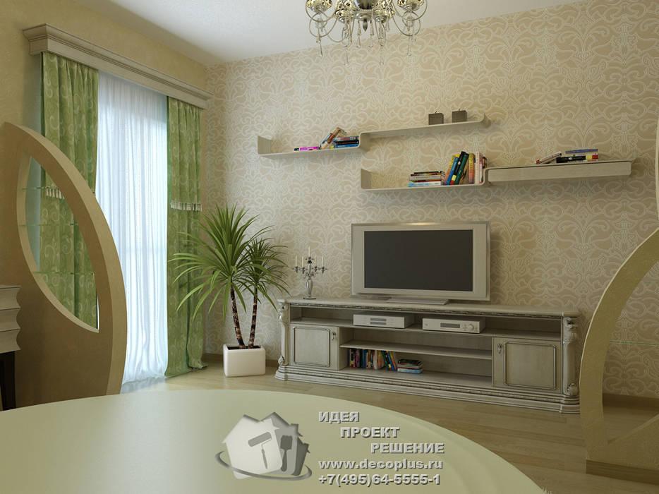 Зеленая спальня с ТВ-зоной: Спальни в . Автор – Бюро домашних интерьеров