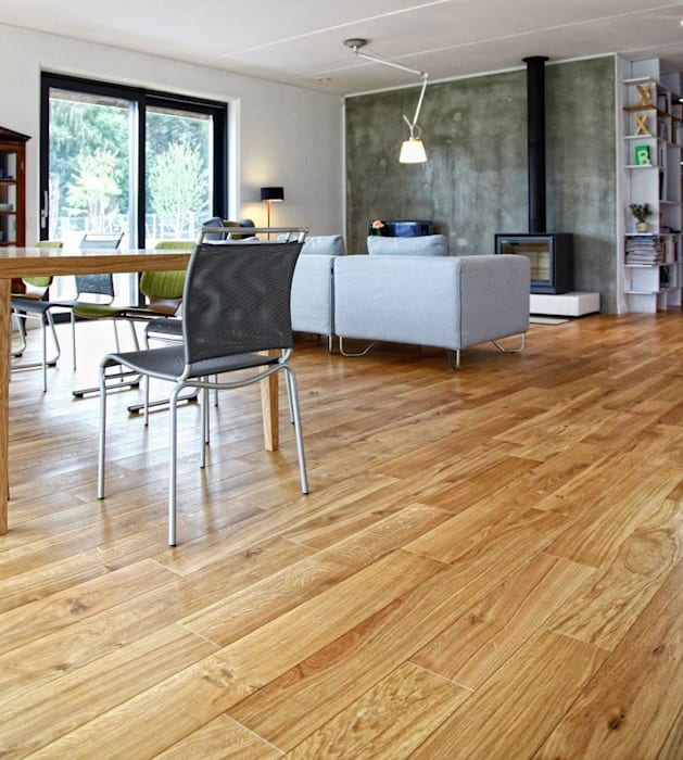 Deski podłogowe Dąb Arvade: styl , w kategorii Ściany zaprojektowany przez Kopp