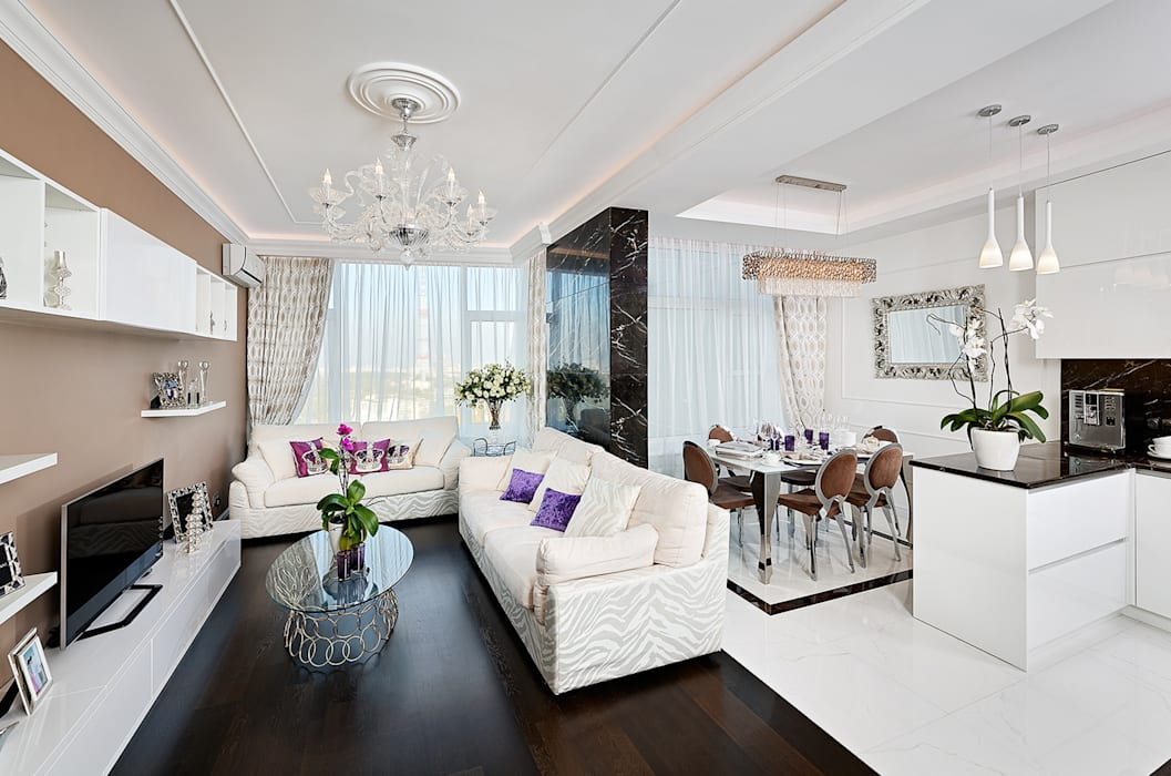 Living room by ELIZABETH STUDIO DESIGN, Modern