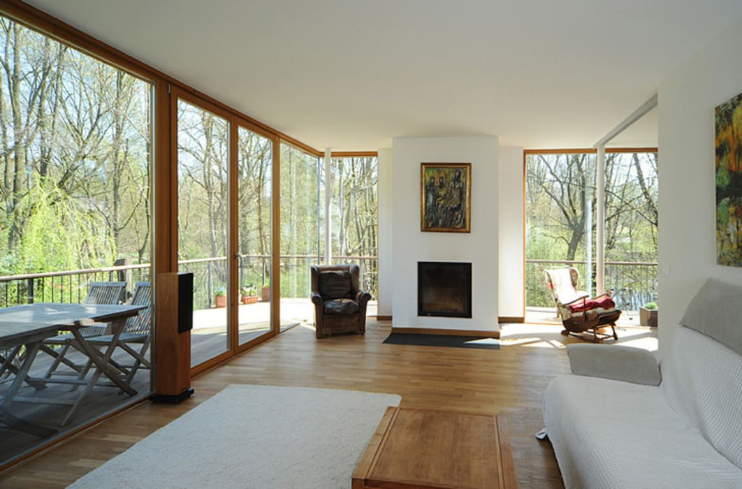 Geschwister Scholl Allee Moderne Wohnzimmer von Carlos Zwick Architekten Modern