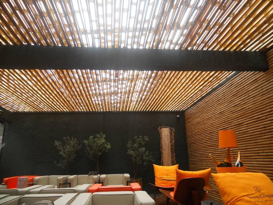 Projeto Kanela Bambu Varandas, alpendres e terraços campestres