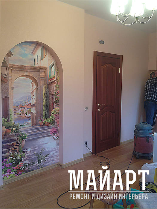Дом в Нахабино:  в . Автор – МайАрт: ремонт и дизайн помещений,