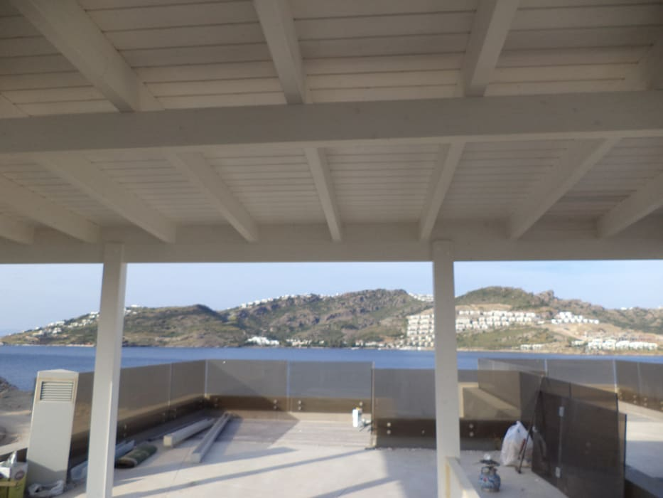Yalıkavak Club Flipper Pergole Modeli Konyalılar Ahşap Bodrum Balkon, Veranda & TerasAksesuarlar & Dekorasyon