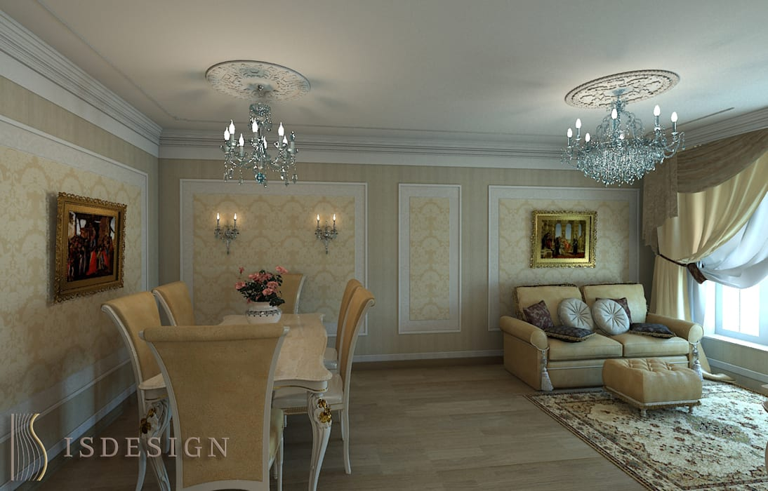 Гостиная ISDesign group s.r.o. Гостиная в классическом стиле