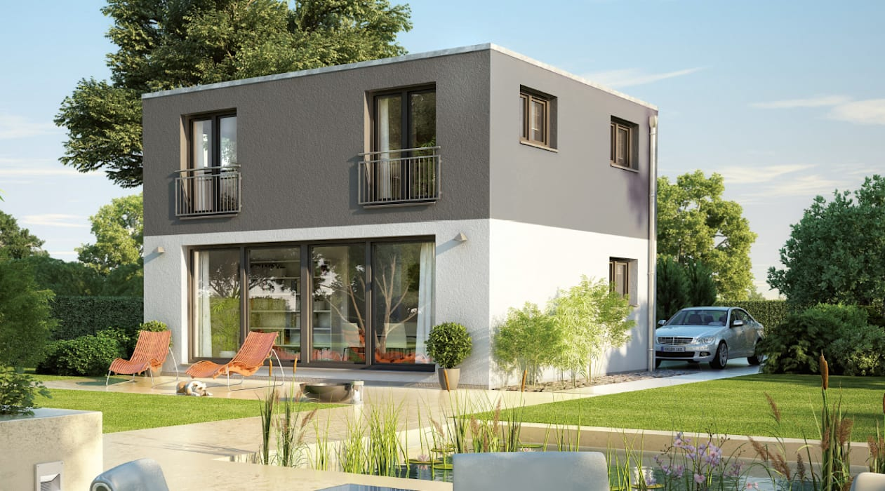 現代房屋設計點子、靈感 & 圖片 根據 Dennert Massivhaus GmbH 現代風