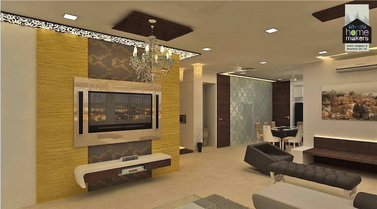Grand Living Room: classic Living room by home makers interior designers & decorators pvt. ltd.