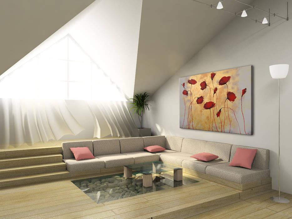 Quadri fiori: soggiorno in stile di bimago.it | homify