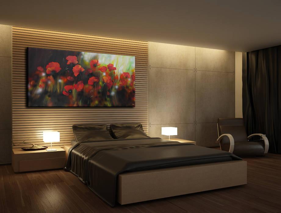 Quadri fiori: camera da letto in stile di bimago.it   homify