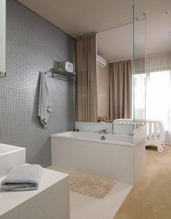 Mozaiki z płytek Deeco Nowoczesna łazienka