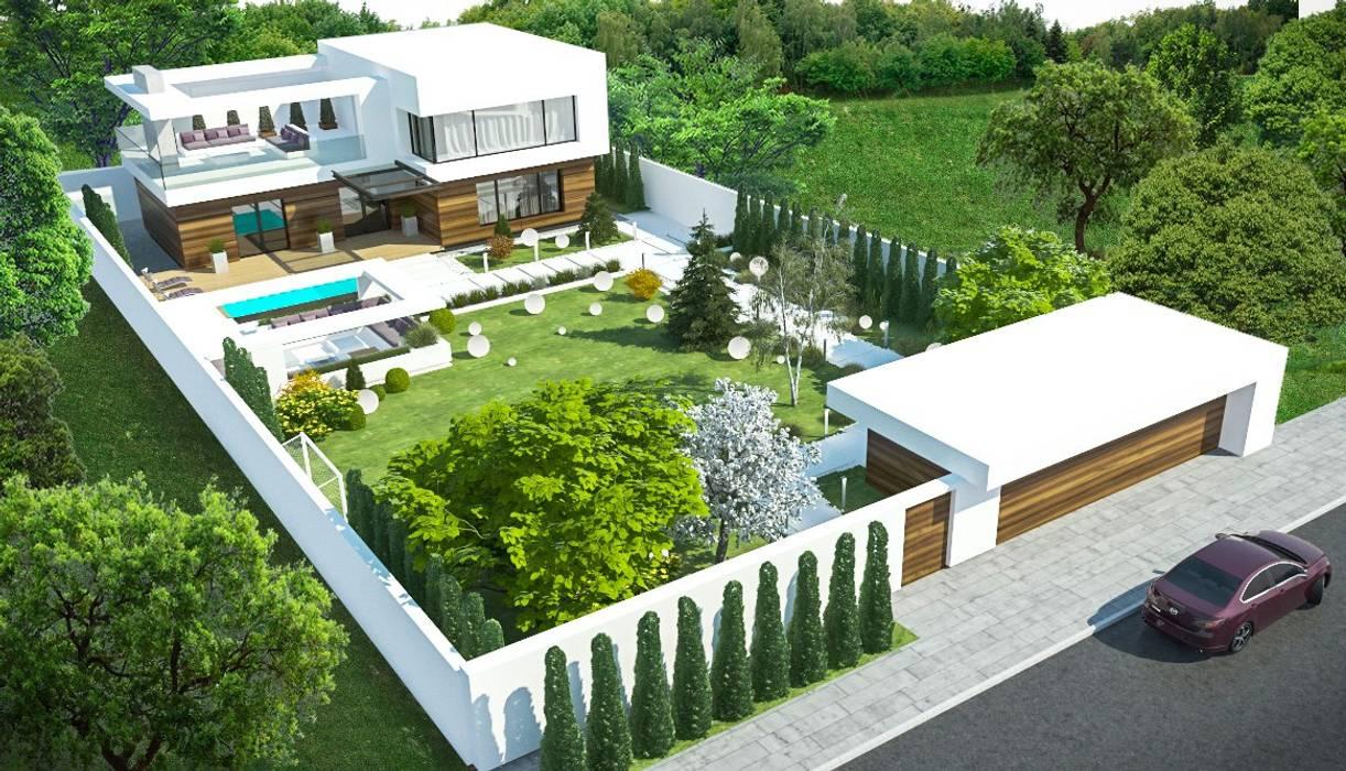 Загородный дом в Краснодаре Дома в стиле модерн от NK design studio Модерн