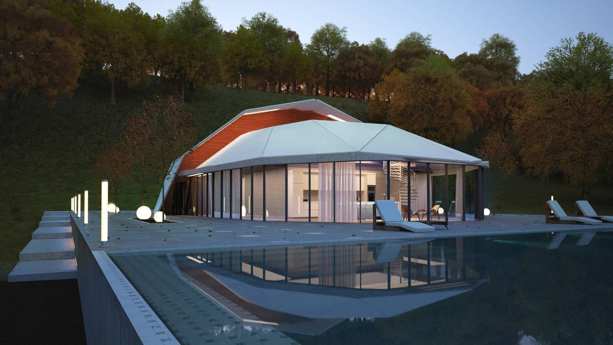 Casas estilo moderno: ideas, arquitectura e imágenes de Lenz Architects Moderno