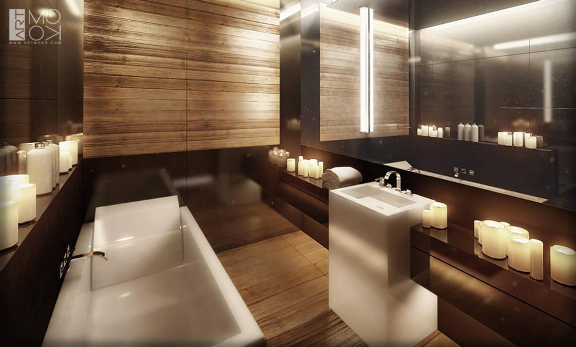 Łazienka apartamentu hotelowego od Pracownia projektowa artMOKO Nowoczesny