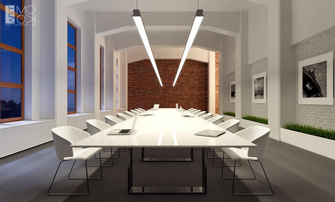 Nowoczesna sala konferencyjna: styl , w kategorii Przestrzenie biurowe i magazynowe zaprojektowany przez Pracownia projektowa artMOKO