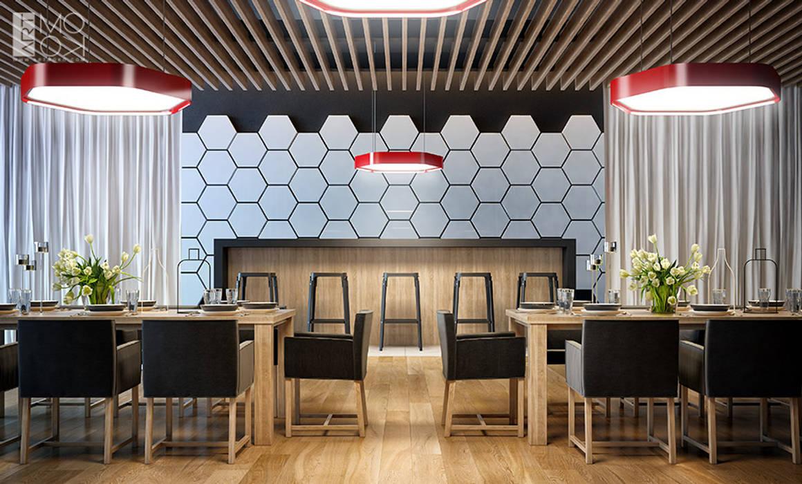 Elegancka restauracja biurowa: styl , w kategorii Przestrzenie biurowe i magazynowe zaprojektowany przez Pracownia projektowa artMOKO