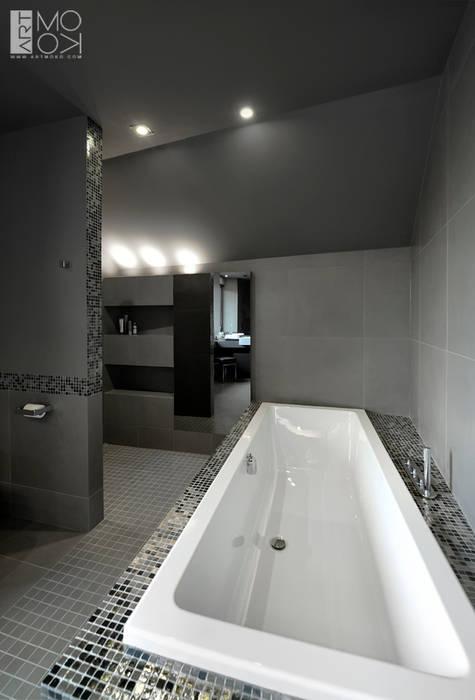 Komfortowa łazienka Nowoczesna łazienka od Pracownia projektowa artMOKO Nowoczesny