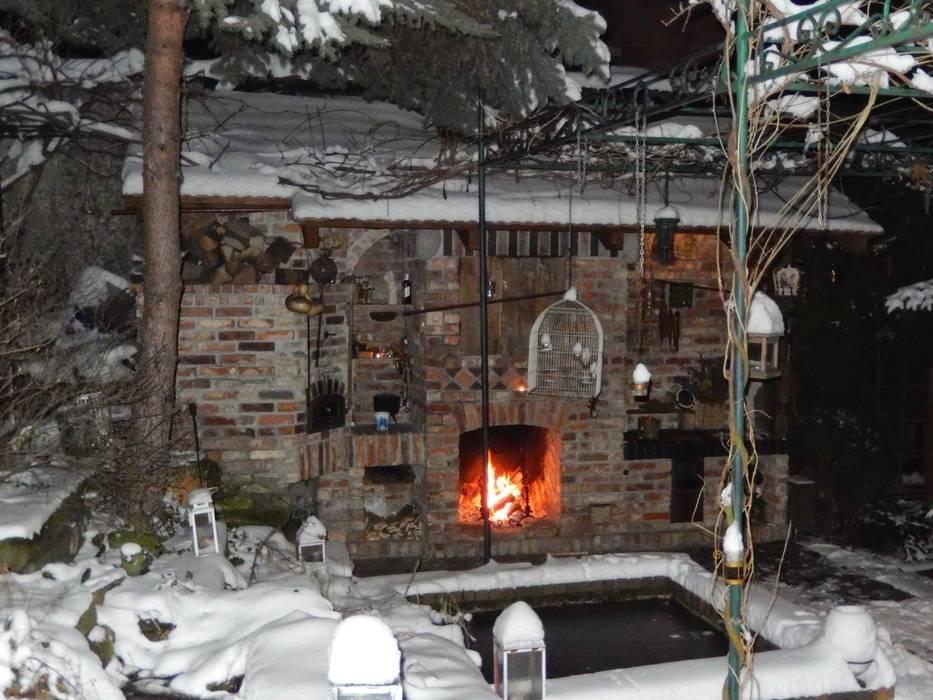 Kuchnia W Ogrodzie Zimowym Styl W Kategorii Taras
