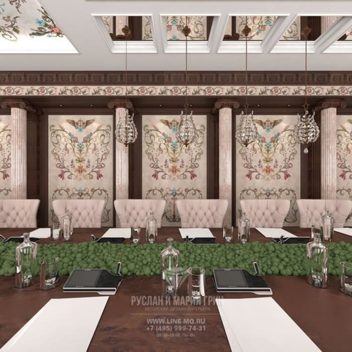 Дизайн конференц-зала в загородном доме Конференц-центры в колониальном стиле от Студия дизайна интерьера Руслана и Марии Грин Колониальный