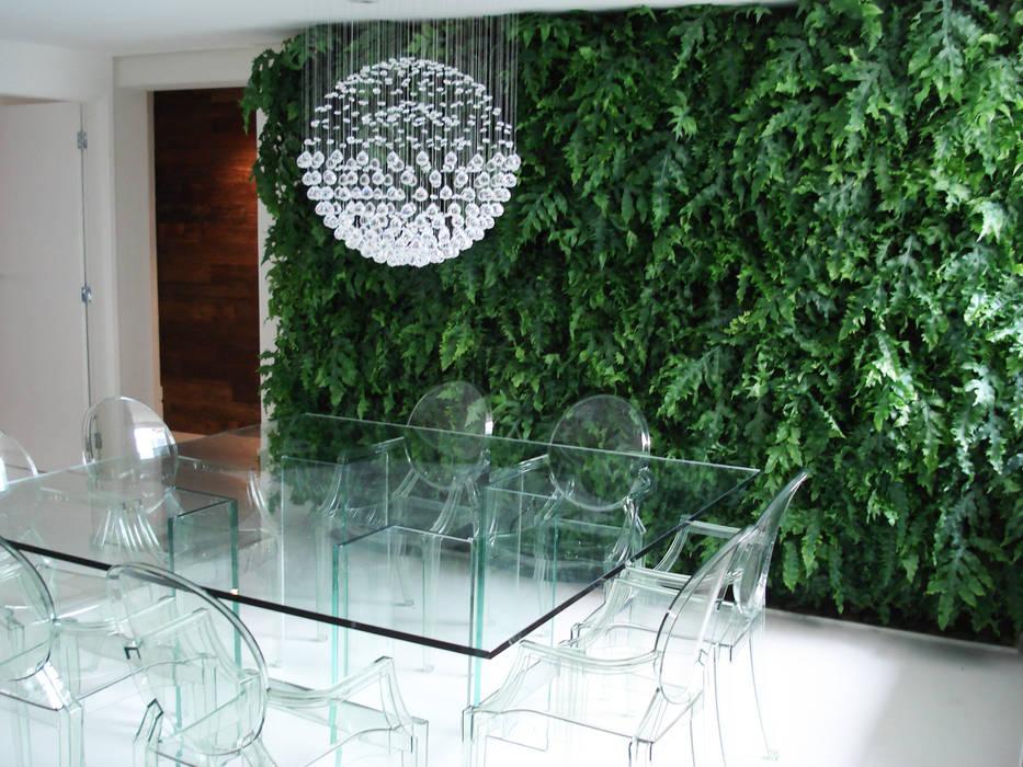 Modern dining room by Quadro Vivo Urban Garden Roof & Vertical Modern