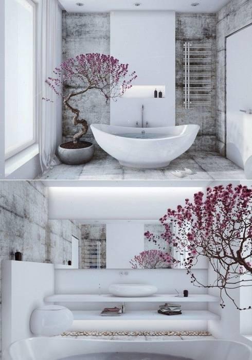 Ev TAdilatları – #Merkezİlçedekorasyon:  tarz Banyo, Tropikal