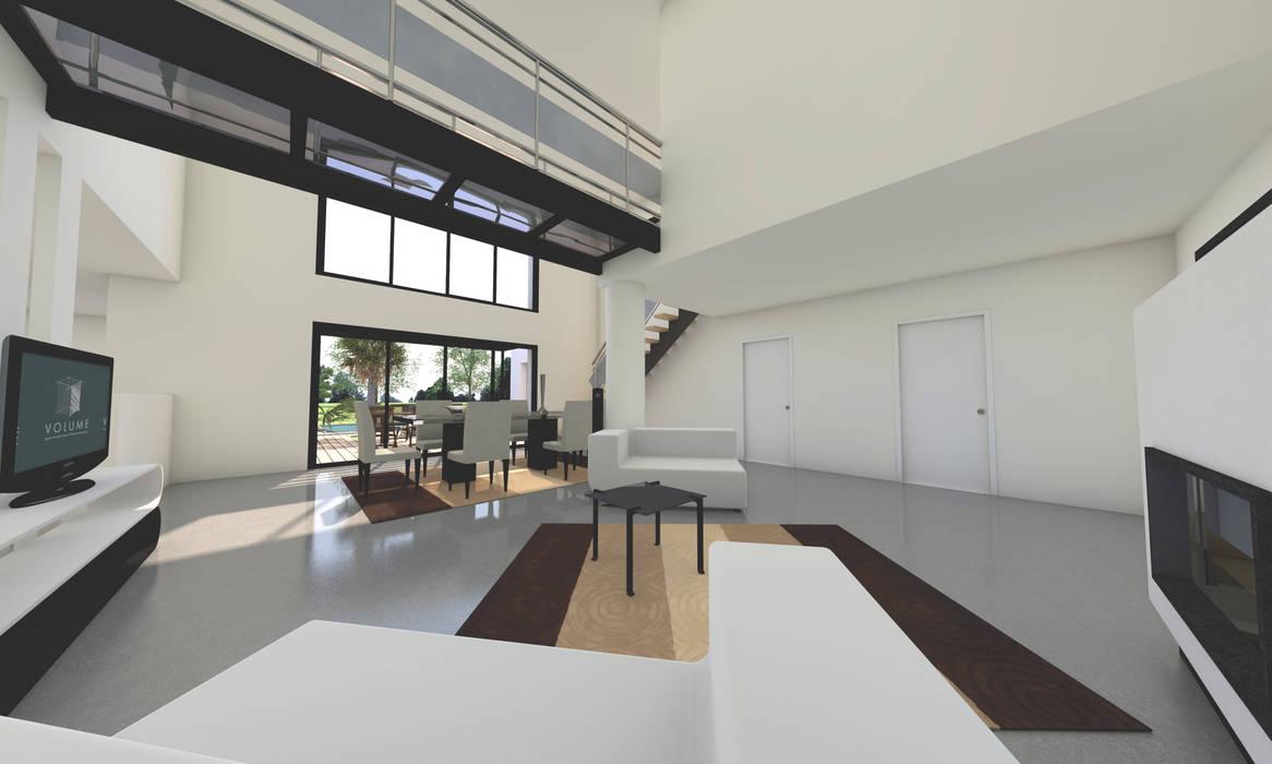 Villa ultra moderne / loft avec piscine: salon de style par ...