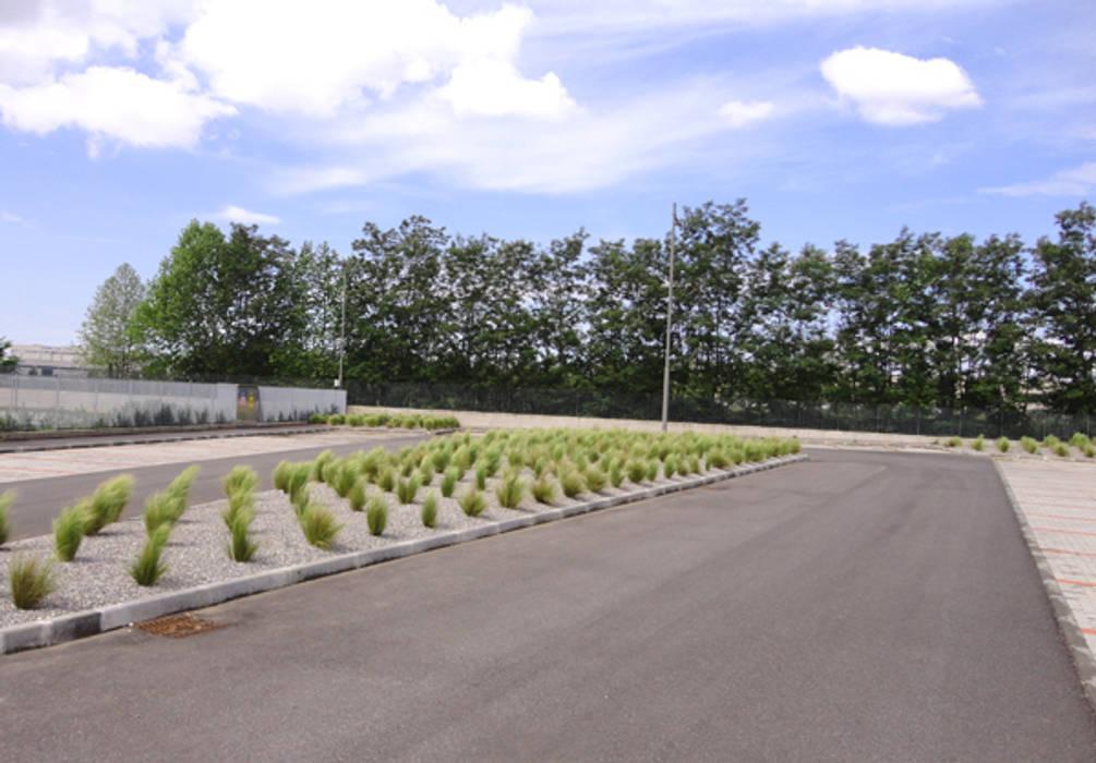 Aree verdi sede aziendale Rubinetterie Bresciane - Gussago (Bs) - anno 2012-2014: Giardino in stile in stile Moderno di matiteverdi