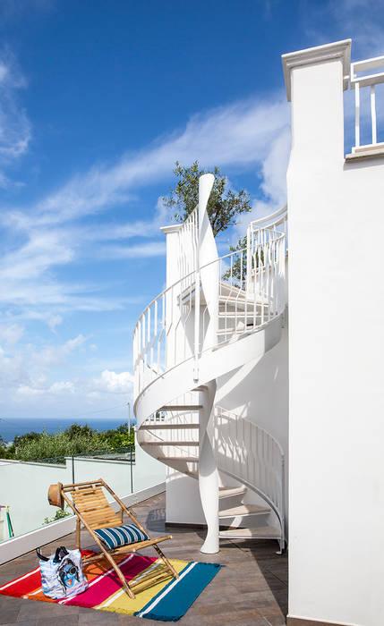 Mediterranean style corridor, hallway and stairs by PDV studio di progettazione Mediterranean