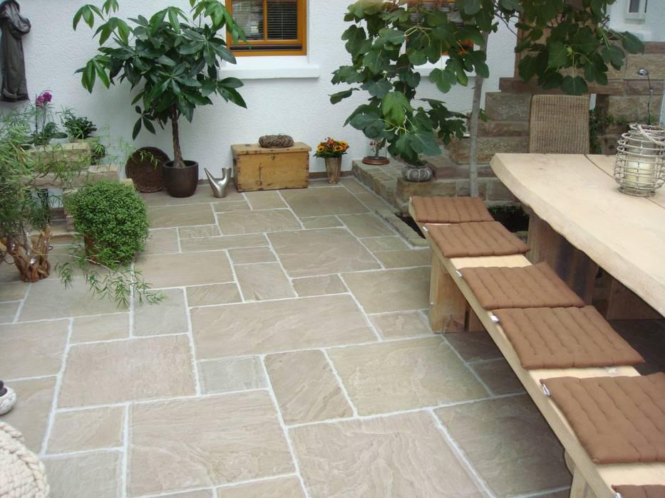 Sandstein Terrassenplatten Terrasse Von Alois Wilken Gmbh Homify
