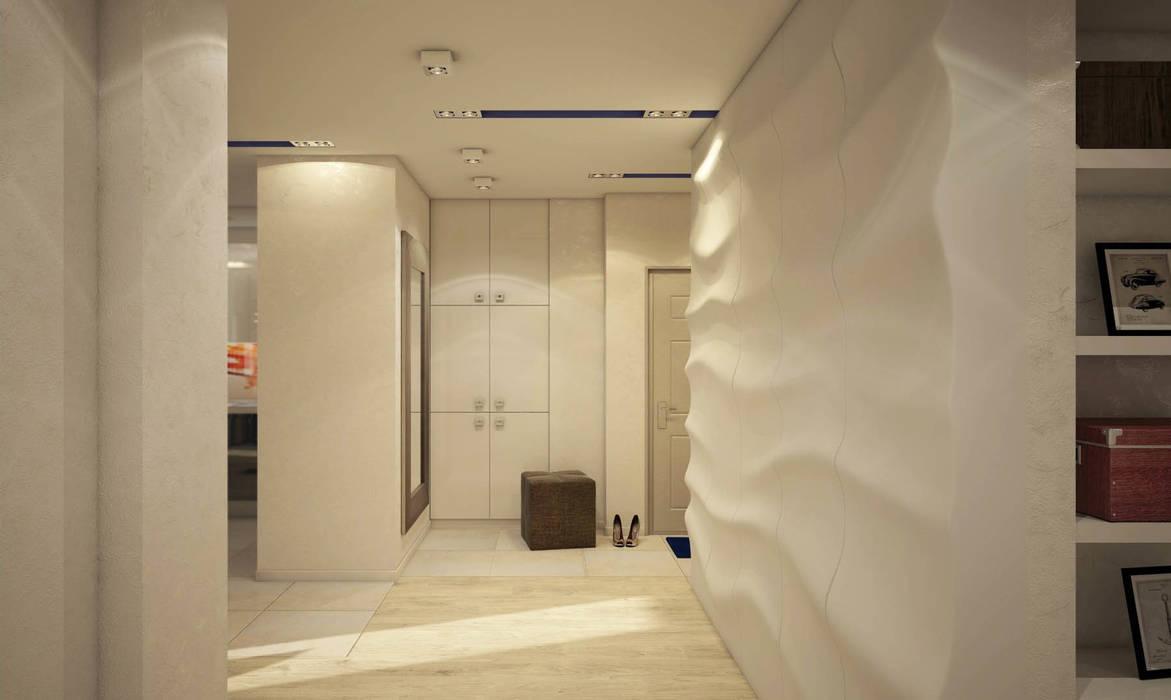 Прихожая Коридор, прихожая и лестница в стиле минимализм от tatarintsevadesign Минимализм