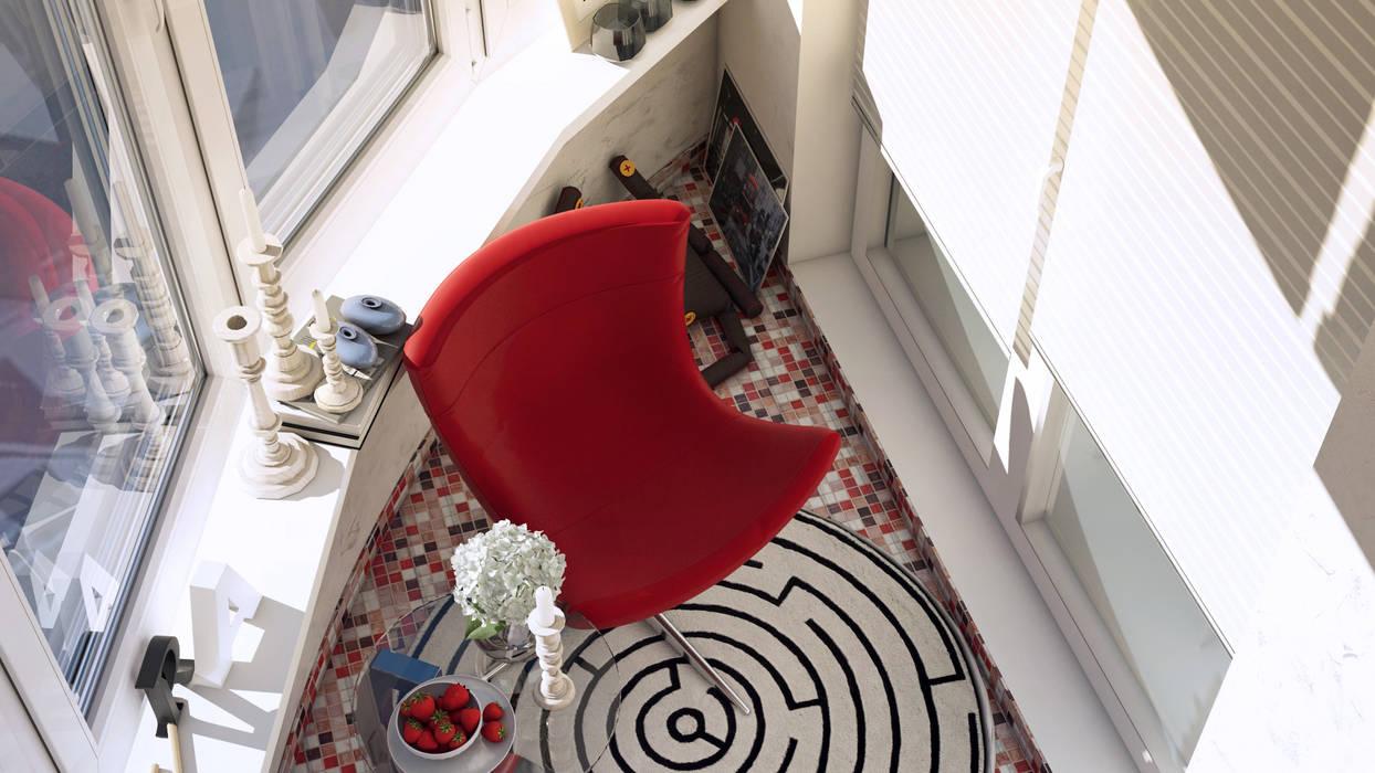 Лоджия Балкон и терраса в стиле минимализм от tatarintsevadesign Минимализм