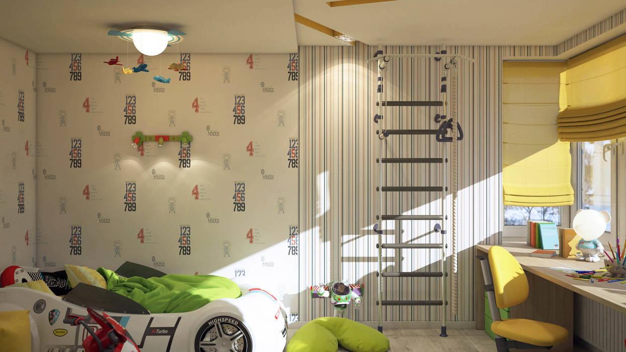Детская tatarintsevadesign Детская комнатa в стиле минимализм