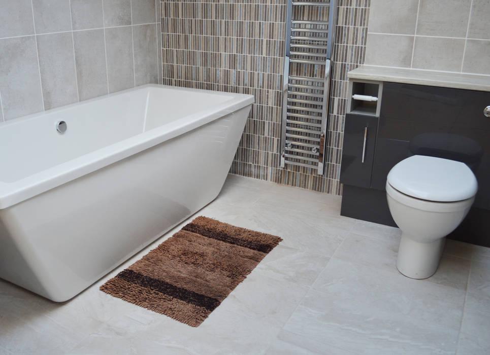 Coral Grey Mosaic Bathroom Feature Target Tiles Modern Bathroom