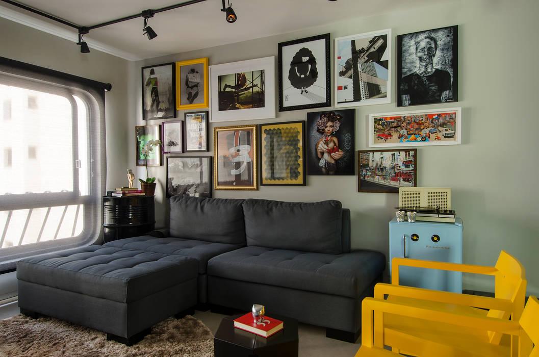 Apartamento Vila Nova Conceição Salas de estar modernas por Marcella Loeb Moderno