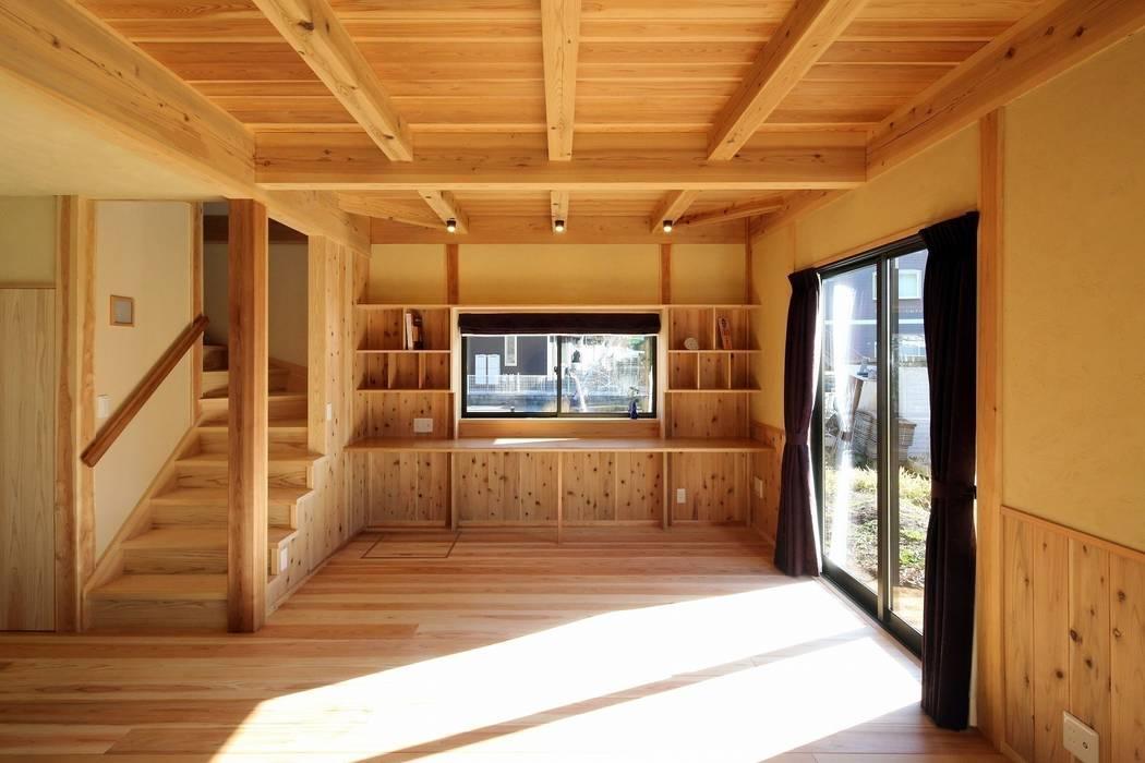 新築棟 ワークスペース オリジナルデザインの 書斎 の 木の家設計室 アトリエ椿 オリジナル