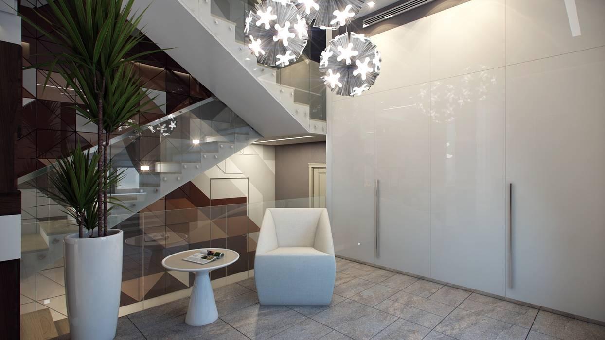 Коттедж в г. Екатеринбург: Гардеробные в . Автор – E_interior, Эклектичный