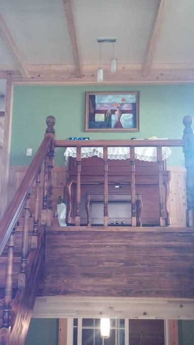 계단: E-포레스트의  복도 & 현관,모던