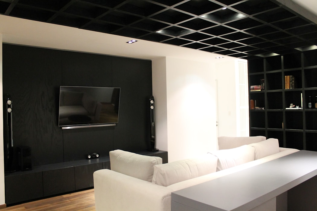 Modern style media rooms by Hat Diseño Modern
