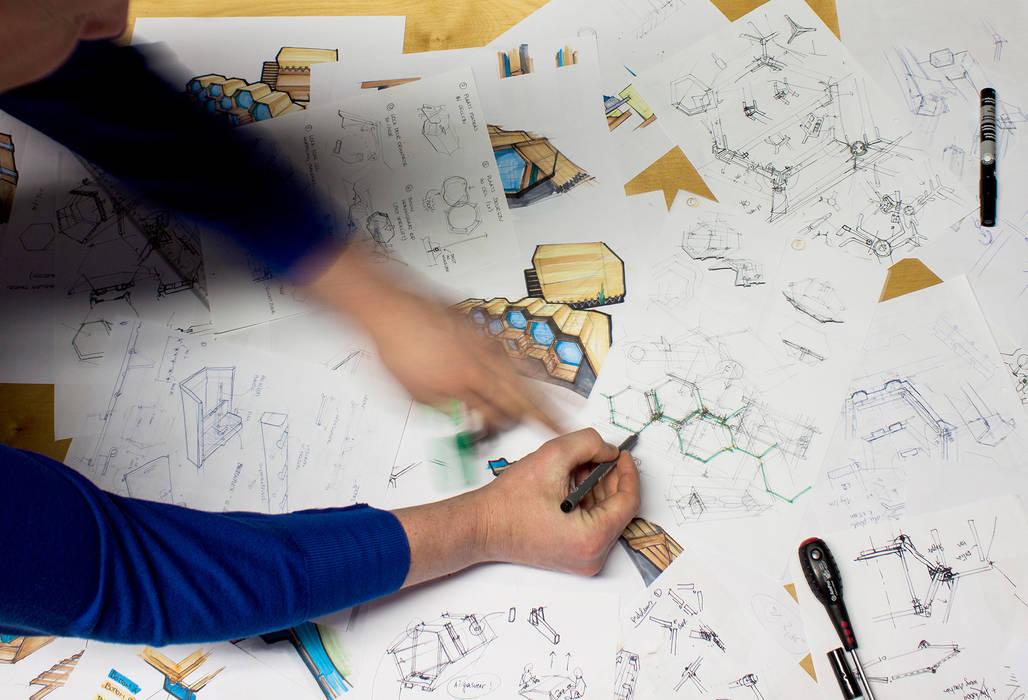 B&BEE - Design Process: Hôtels de style  par Achilles Design