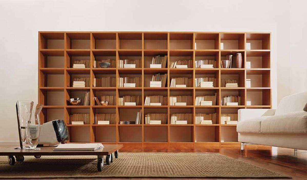 Libreria componibile a giorno finitura ciliegio di homify ...