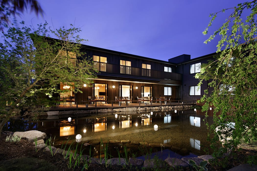 夜景 オリジナルな 庭 の 秦造園 オリジナル