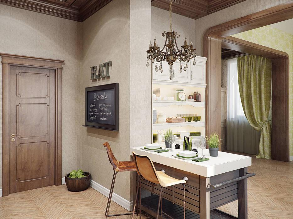 Столовая: Столовые комнаты в . Автор – Студия дизайна интерьера Маши Марченко,