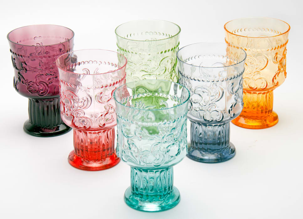 d17c13672d8 Handmade Coloured Portuguese Water Glasses: Dining room by J & M  Collections Ltd